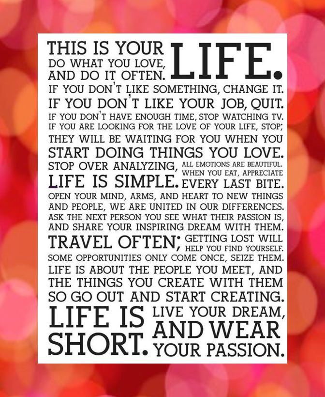 This is Your Life Credo