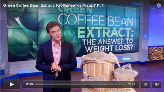 Dr. Oz Proves and Endorses Green Coffee Bean Extract as a Miracle Pill