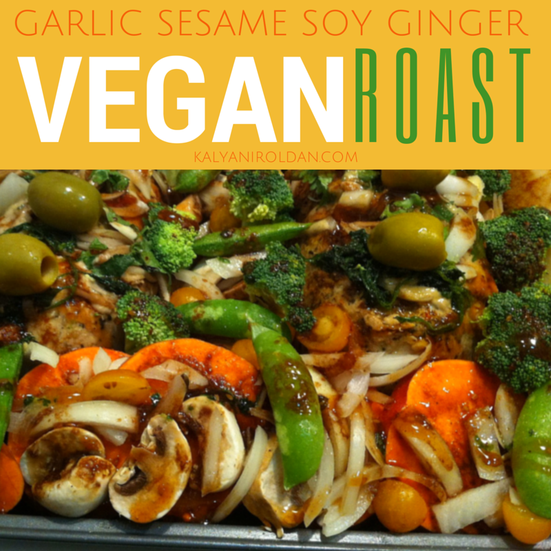 Garlic Sesame Soy Ginger Vegan Roast